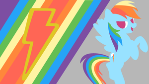 Rainbow Dash's Loyalty Minimalist Wallpaper by Narflarg