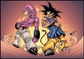 Buu VS Goku by logicfun