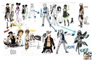 Character Costume Sketches by MondoArt
