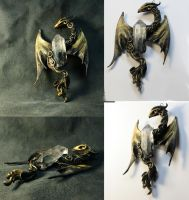 Crystall dragon pendant by kessan