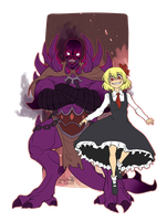 Commission: Rumia and Shadow by TheK40