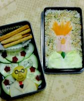 Muppets: Bunsen and Beaker Bento by mindfire3927