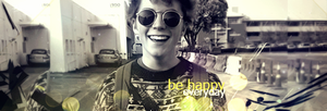 Be Happy Everyday Sign by mazeko