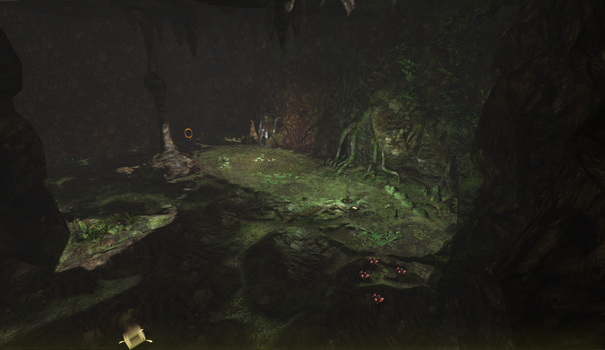 The Cave (pond area) by Curlsbel