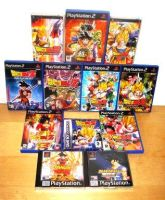 My Dragonball Z games by Nick-Kazama