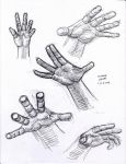 Hand Study2 1-3-2014 by myconius