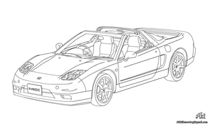 Honda NSX - lineart by AkiDIDmorning