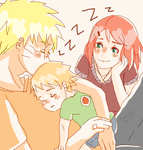 Naruto AU - Nap Time by Kirabook