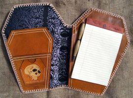 coffin notebook by freakeaux