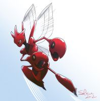 Day 10: Scizor by Solkiah