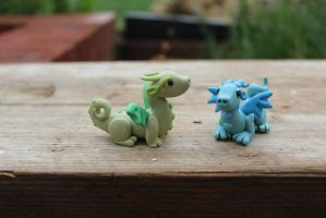 Polymer Clay Baby Dragons by RaLaJessR