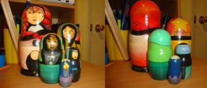 Painted Nesting Dolls by bachel60