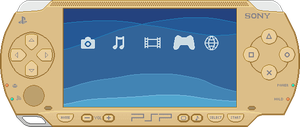 Sony PSP [Gold] by BLUEamnesiac