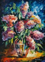 Lilac by Leinid Afremov by Leonidafremov
