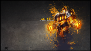 LoL - Scorched Earth Xerath Wallpaper by xRazerxD