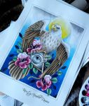 Eagle, Illuminati and Rose Tattoo Design by kirstynoelledavies