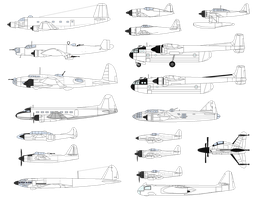 Aircraft drawings by soundwave3591