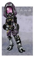 Tali'zorah by badgerlordstudios