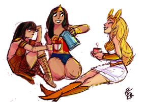 Princess Power Coffee Break by SerpentineDoves