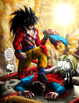 Goku Vs. Superman by CindyCandy100