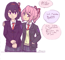Madohomu High School Homos by Caffeccino