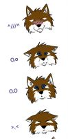 Scary Expressions XD by grouchywolfpup