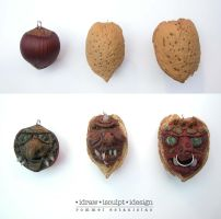 Chestnut and Walnut Trolls by Dinuguan