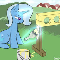trixie + pillory + yellow by Lamiaaaa