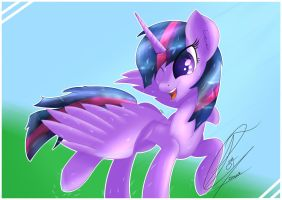 Happy Horsey - Twilight Sparkle by TrentGT