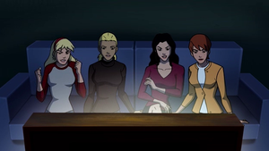 The Young Justice Girls on Scooby-Doo by srebak