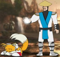Tails fears the God of Thunder by BigJohnnyCool
