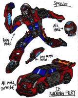 Transformers: Burning Fury - Speedor by KrytenMarkGen-0