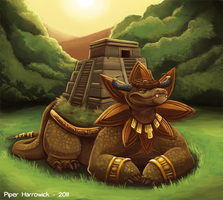 The Roaming Aztecan Temple by Cryptid-Creations