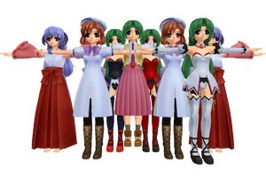 MMD Newcomers From Higurashi by Anime-Base-Creator