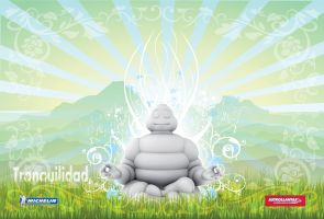 Bibendum in Zen State Wallpaper by kristinahetfield