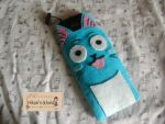 Happy the Cat Cellphone pouch Front by Hikarisworld