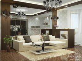 Living Room - 1b by CheShindra