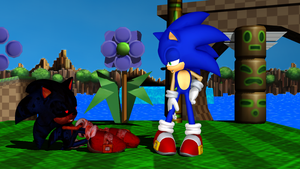 Sonic and Sonic.exe - A bit winded there? by MephistaTheDark