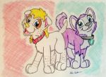 Alexus and Everest by SilverSimba01