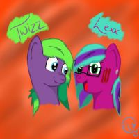 Twizz And Lexx. by NotSoCuteAndFuzzy