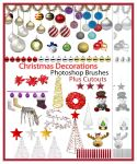 Free Christmas Decorations Brushes plus Cutouts by ibjennyjenny