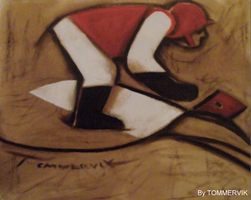 horse racer painting by TOMMERVIK