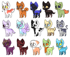 Lots O adoptables! OPEN by snowgraywhite