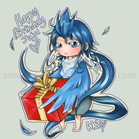 Moemon- Articuno- happy bday by sabakugaara