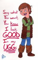 Hiccup Loves His UGGs by MissyAlissy