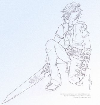 FF8 KH - Lineart - Squall Leon by tomuyu