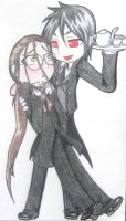Grell+Sebby chibis by Corupted-Data