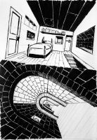 claustrophobic perspective by bozzcarr