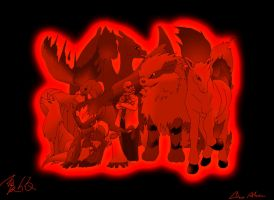 Blaine's Team Of Flame by Alma1129
