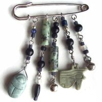 Egyptian Scarf or Kilt Pin II by BastsBoutique